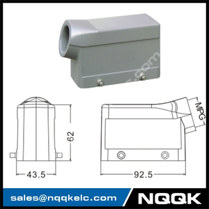 H16B Hood Housing industrial heavy duty rectangle connector