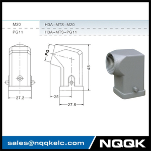 H3A Hood Housing industrial heavy duty rectangle connector