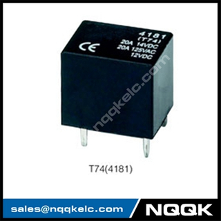 T74 20A carrying current 1H and 1Z 24VDC Sliver Alloy PCB relay