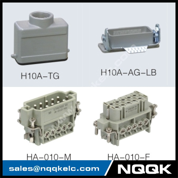 HA series 10 Poles of connector heavy duty power connector
