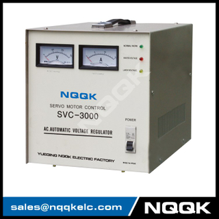 SVC 3KVA Servo Type 1Phase Series Voltage Stabilizer Regulator