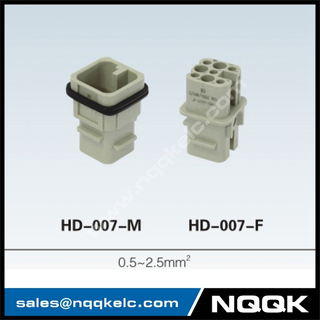 HD 7 ~128 pin Insert Series rectangular plug socket heavy duty connector