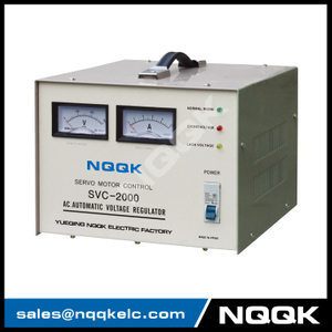 SVC 2KVA Servo Type 1Phase Series Voltage Stabilizer Regulator