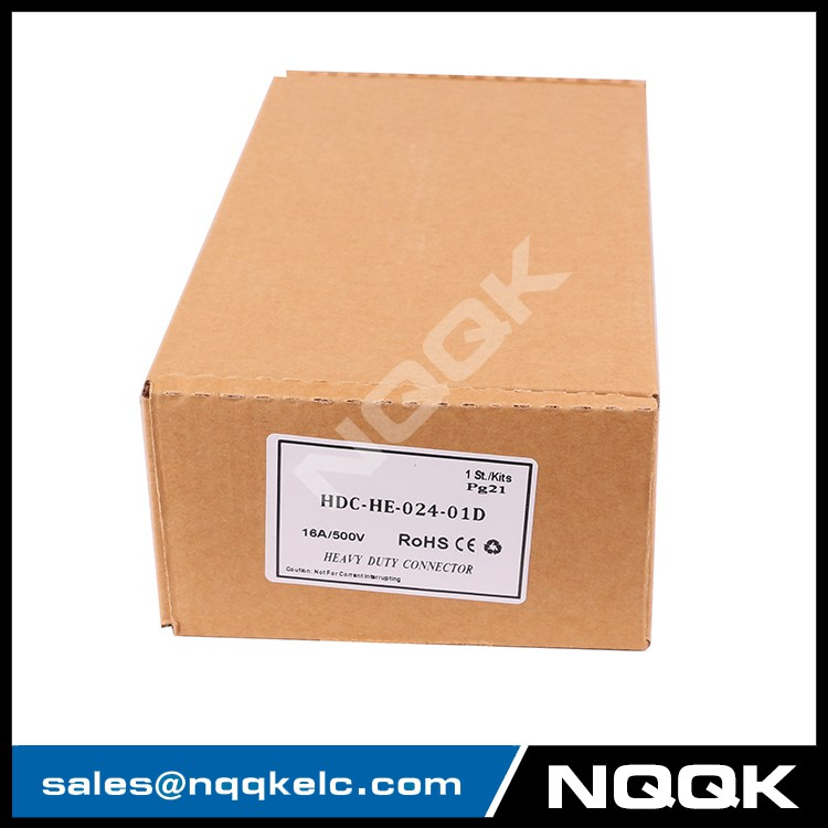 HE series 24 pin heavy duty connector harting for Construction machinery