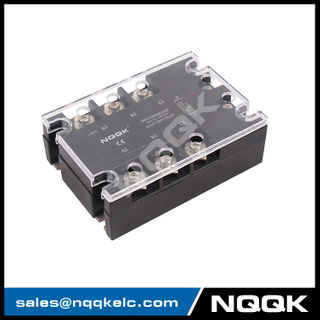 DC or AC control 10 - 120 A three phase solid state relay with LED indicator