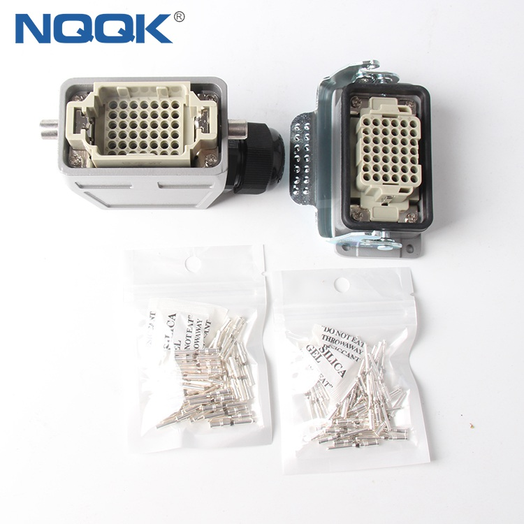 42 Pins HDD Industrial Female Male Heavy Duty Connectors With Silver Plated Needle