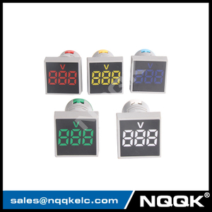 CE AD16 22mm Square Mini LED Indicator Light Lamp Digital Voltage Meter Voltmeter AC 12-500V