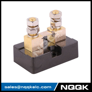USA type 50A 50mV DC current Manganin shunt resistor with base