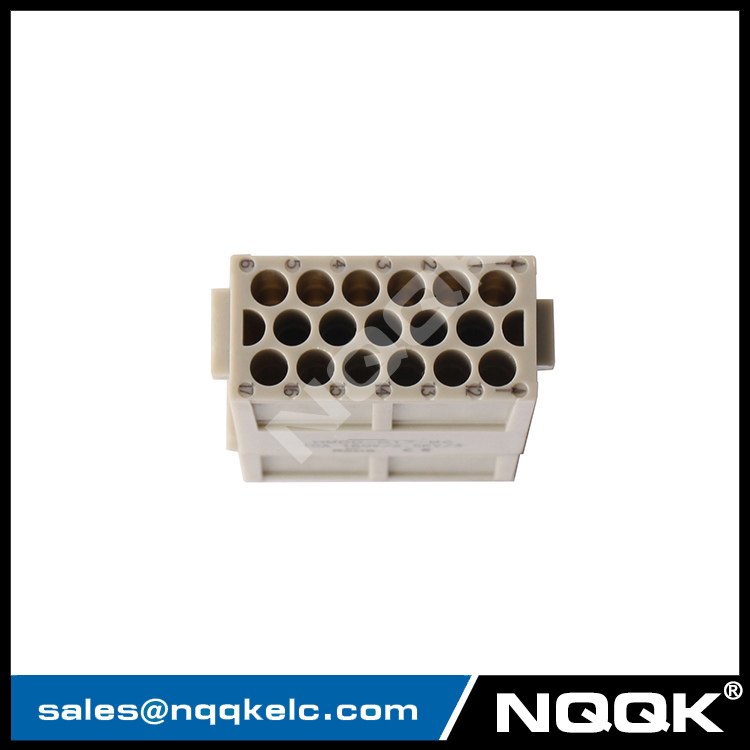 09140173001 HMDD-017-MC 17pin wire Modular Docking Frame heave duty connector plastic crimp terminal for transport / solar