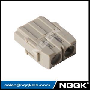HM-002-M 2pin 2 cable 40A 1000V male Module Plugin insert heavy duty connector
